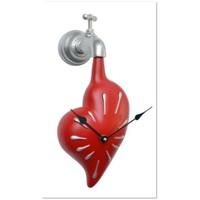 Antartidee Musluktan damlayan Kalpli Duvar Saati / Love Time Clock