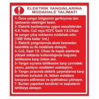 """Modülerteknik """"Elektrik Yangınlarına Müdahale Talimatı"""" 25X35cm"""