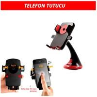 Araç İçi Telefon Tutucu Bas-Bırak Kırmızı