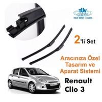 Renault Clio 3 Araca Özel Silecek Takımları (Sağ-Sol)