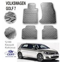 Volkswagen Golf 7 Lüx Kauçuk Paspas Gri