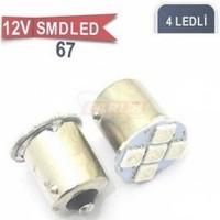 67 Ampul Led Mavi 12V Smd 4 Power Led 0403013