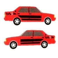 Araba Çıkartması Tofaş Kırmızı 12Cmx4Cm