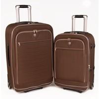 Ççs 041 Valiz 2 Tekerlekli Kahverengi 2'Li Set