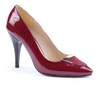 Cudo 1453 Stiletto Rugan Tokalı Topuklu Ayakkabı