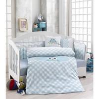 Erenev 6391 Mavi Baykuş Bebek Uyku Seti 6 Parça