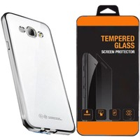 Exclusive Phone Case Samsung Galaxy E7 Kılıf Lazer Silikon Kaplama +Tempered Glass