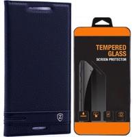 Exclusive Phone Case Sony Xperia E5 Kılıf Kapaklı Elite Tempered Glass