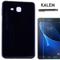 Kılıfland Samsung Galaxy Tab A T350 Kılıf Silikon FilmKalem