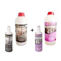 The Solution I-Set Ankastre Inox Paslanmaz Çelik Beyaz Eşya Cam Fırın Ocak Temizleme Seti (Yağ Sökücü Temizleyici Ve Parlatıcı) I-Pro (1Lt) I-Clean (1Lt) Temizlik