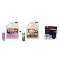 The Solution I-Set Ankastre Inox Paslanmaz Çelik Beyaz Eşya Cam Fırın Ocak Temizleme Seti (Yağ Sökücü Temizleyici Ve Parlatıcı) I-Pro (3Lt) I-Clean (3Lt) Temizlik + Havlu