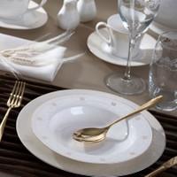 Pierre Cardin Ivory Lace 86 Parça Premium Bone China Yemek Takımı
