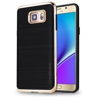 Motomo Samsung Galaxy Note 5 Gold Lüks Silikon Kılıf