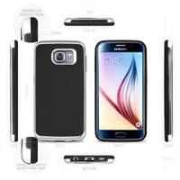 Motomo Samsung Galaxy S6 Edge Silver Lüks Silikon Kılıf