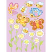 Dekorjinal Kelebek Ve Arı Çocuk Sticker - Kd43