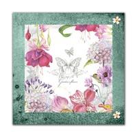 Dolce Home Beyaz Kelebekler Dekoratif Tablo Adgt85