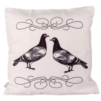 Cushion Design White Doves Yastık Kılıfı