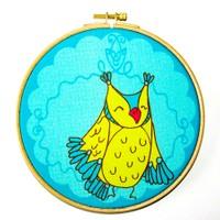 Dolce Home Wall Hoops, Kids Sarı Kuş-2