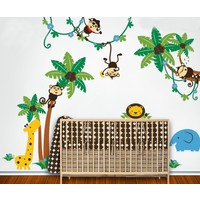 Dekorjinal Zıplayan Maymunlar Çocuk Sticker - Cc02