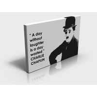 Artcanvas Charlie Chaplin A Day... XXL Boy Dekoratif Kanvas (Canvas) Tablo -60x90 cm