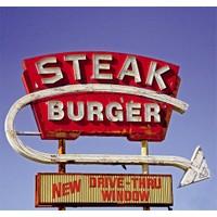 Fotocron Steak Burger Tablo
