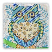 Oscar Stone Mavi Baykuş Taş Tablo