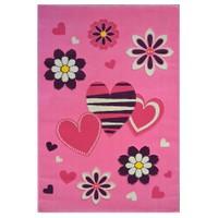 Poypoy Kalp Pembe Çocuk Halısı - 120x180 cm
