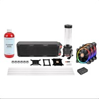 Thermaltake Pacific RL360mm D5 Hard Tube RGB Color Led Riing Fanlı Custom Sıvı Soğutma Kiti CL-W129-CA12SW-A