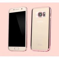 Usams Kıngsır Series Samsung Galaxy S7 Edge Metalik Rose Gold Kenarlı Rubber Kılıf