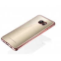 Tlfcom Samsung Galaxy S7 Edge Rose Gold Kenarlı Silikon Kılıf