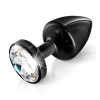 DIOGOL - Zirkon Kristal Taşlı Plug - Siyah
