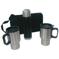 Andoutdoor Çantalı Mug Kamp Seti (2 Kupa Mug+0.50 Lt Termos)