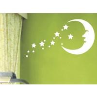 Dekorjinal Ay Ve Yıldızlar Çocuk Sticker - Cc48