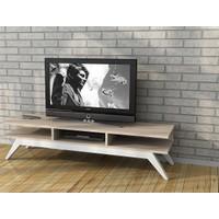 Sanal Mobilya Retro Tv Sehpası Sonomo/Beyaz