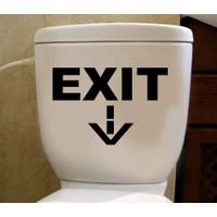 Tuvalet Sticker Exit