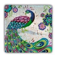 Oscar Stone Peacock Taş Tablo