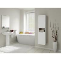 Bestline Petunya 2 Kapaklı Asma Banyo Boy Dolabı - Beyaz