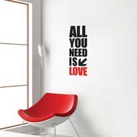 Dekorjinal Duvar Sticker All You Need.. - Cc57