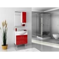 Bestline Auraline Vira 65 Banyo Dolabı - Kırmızı Beyaz