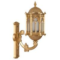 Şanlı Aliminyum Altın Yıldız Boyalı Osmanlı Fener Duvar Aplik