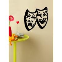 Ağlayan Gülen Maske Duvar Sticker