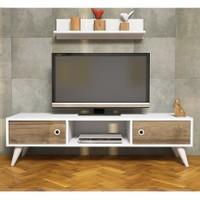 Hepsiburada Home Aspen Tv Ünitesi - Ceviz Beyaz