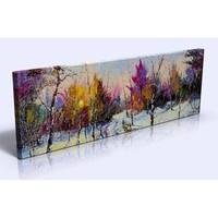 Abella Xxl Boy Dekoratif Kanvas (Canvas) Tablo - 120X40 Cm Ağaçlar