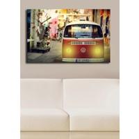 Volkswagen Minibüs Ledli Kanvas Saat