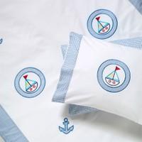 Sunny Funny Halkalı Yelken Mavi Bebek Nevresim Takımı