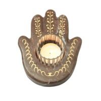 Arte Home Sarmaşık Altın Kahverengi Mermer El Mumluk