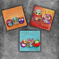 Oscar Stone Owl Color Magnet