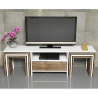 Hepsiburada Home Zygo 6 Zigon Sehpalı Tv Ünitesi - Ceviz / Beyaz