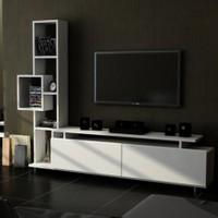 Sanal Mobilya Tulip Tv Ünitesi-Beyaz/Ceviz