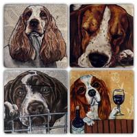 Oscar Stone Dogs Çizim Bardak Altlığı